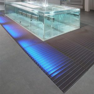 heel-proof steel floor grating