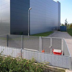 secure steel bin store retail park