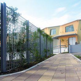 Genoa grating fence green wall plant trellis