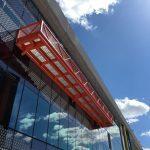 heel proof steel grating panels used as balcony decking