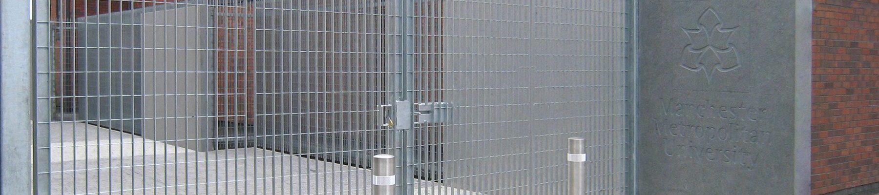Banner-Customised-grating-fence-Como-Manchester-University