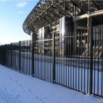 crowd control railing fence and gates for sports stadium