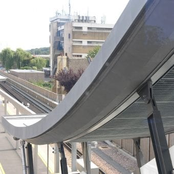 Bespoke ceiling grilles for Network Rail at Abbey Wood station