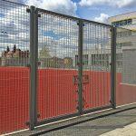 MUGA sports grating fence