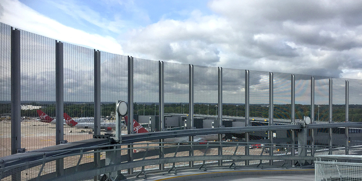Stereo-3-steel-grating-scurity-screen-Mancester-Airport-news
