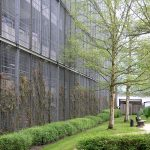 Green wall car park grating screen at BMW UK Farnborough